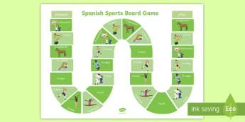 Sports Board Game Spanish - Spanish, Vocabulary, topics, sports, board, game, physical, education, PE