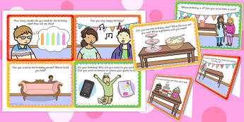 Birthday Role Play Challenge Cards - ESL Birthday Role Play