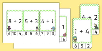 Monster Themed Addition to 10 Peg Activity - monster, addition, 10, peg, activity