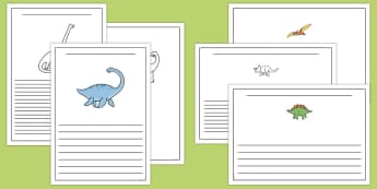 Dinosaur Writing Frames - dinosaurs, writing template, write