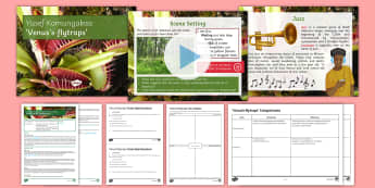 Introductory GCSE Poetry Lesson Pack to Support Teaching on 'Venus's-Flytraps' by Yusef Komunyakaa  - Venus, flytraps, oCR, Towards a World unknown, youth and age, poetry anthology, gcse