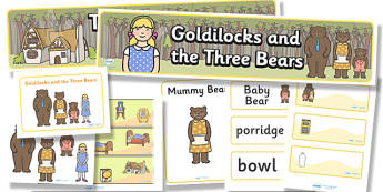Goldilocks and the Three Bears Display Pack - goldilocks and the three bears, display pack, resource pack, display lettering, resources, classroom display
