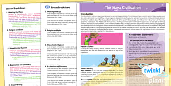 PlanIt - History UKS2 - The Maya Civilisation Planning Overview CfE - planit, history, overview, cfe