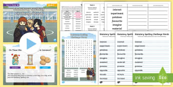 Year 4 Term 1B Week 6 Spelling Pack - Spelling Lists, Word Lists, Autumn Term, List Pack, SPaG