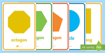 2D Shape Posters - Shape poster, Shape flashcards, Shape recognition, numeracy,geometry,shapes,2d,posters,displays