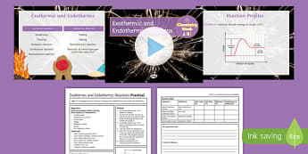 KS4 Endothermic and Exothermic Reactions   Chemistry Week PowerPoint