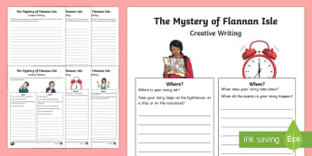 The Mystery of Flannan Isle Creative Writing Activity Sheets-Scottish - CfE Literacy, writing, creating texts, imaginative, creative, mystery,Scottish