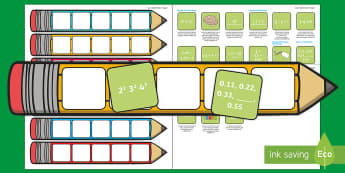 Year 6 Maths Pencil Targets Assessment Tracker - success, criteria, objectives, goals, achieve, display, bookmark, numeracy