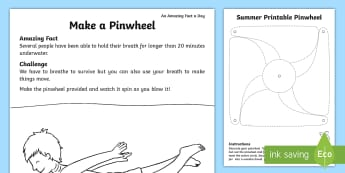 Make a Pinwheel Activity Sheet - paper craft, pinwheel, make a pinwheel, make a paper windmill, Amazing Fact Of The Day, activity she