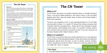 The CN Tower Fact Sheet - cn tower, toronto, communication, landmark, canada