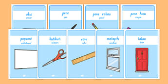 Classroom Equipment Labels Te Reo Māori Translation - nz, new zealand, classroom, equipment, labels, māori,