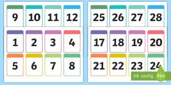 Number Cards 0-30 Printable Number Cards  - Number Cards 0-10 - number cards, numbers, 0-10, cards, number, numbercards, numbes, nubers