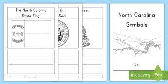 North Carolina State Symbols Activity Booklet - United States History, State history, box turtle, squirrel, honey bee, dogwood, trout, nc seal, nc f