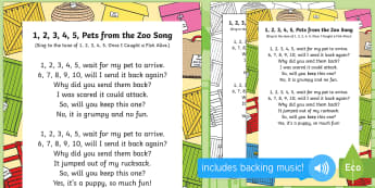1, 2, 3,4 5, Pets from the Zoo Song to Support Teaching on Dear Zoo - Dear Zoo, Rod Campbell, animals, letter to the zoo, zoo, singing, sing time