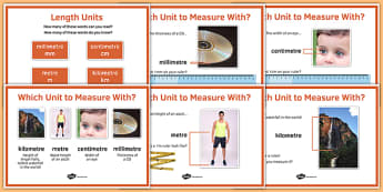 Maths Intervention Length Unit Posters - SEN, special needs, intervention, maths, measure, length