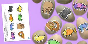 Story Stone Cut Outs to Support Teaching on Brown Bear - story stone, cut outs, brown bear