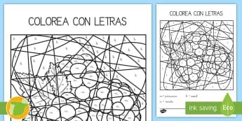 Colorea con letras: La letra M - juego lectoescritura, juego lecto, juego didáctico, lecto, leer, lectura, sonidos, lecto-escritura,