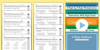 KS2 Reasoning Test Practice Missing Number Calculations Bumper Resource Pack - Key Stage 2, KS2, Reasoning, Test, Practise, Missing Number, Addition, Subtraction, Long multiplication, Long division
