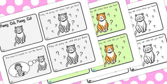 Pussy Cat Pussy Cat Story Sequencing 4 per A4 - australia, story