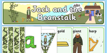 Jack and the Beanstalk Classroom Display - - jack and the beanstalk, giant, magic beans,