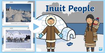 Inuit People Photo PowerPoint - Polar Regions, arctic, antarctic, igloo, eskimo,