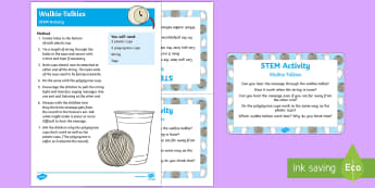 Walkie-Talkies STEM Activity and Prompt Card Pack - People Who Help Us, teacher, role, job, primary, information, non-fiction, messages, walkie talkie,