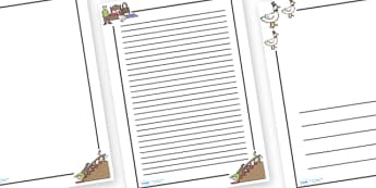 Goosey Goosey Gander Page Borders - Goosey Goosey Gander, nursery rhyme, Literacy, writing, page border, a4 border, template, writing aid, writing border, page template, rhyme, rhyming, nursery rhyme story, nursery rhymes, Goosey Goosey Gander resour
