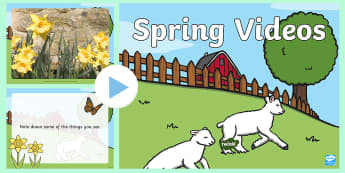 Spring Video PowerPoint - spring, spring powerpoint, spring video, powerpoint videos of spring, spring interactive powerpoint, powerpoint, video powerpoint