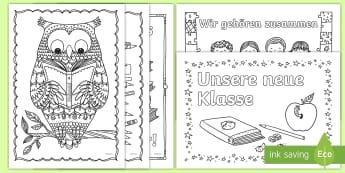 Positive Einstellung für den ersten Schultag Ausmalbilder  - Erster Schultag, neue Schule, neue Klasse, Sommerferien, Schulanfang, malen, ausmalen,German