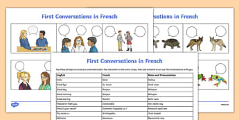 French Greetings Activity Sheet - worksheet, first conversations, conversation, vocabulary, bonjour, introductions