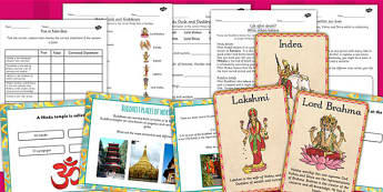Buddhism Judaism and Hinduism Places of Worship and Beliefs Pack