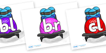 Initial Letter Blends on Bobsleigh - Initial Letters, initial letter, letter blend, letter blends, consonant, consonants, digraph, trigraph, literacy, alphabet, letters, foundation stage literacy