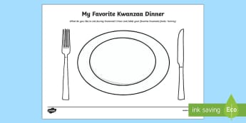 My Favorite Kwanzaa Dinner Draw and Write Activity Sheet - Kwanzaa foods, kwanzaa, worksheet, kwanzaa feast