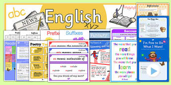 LKS2 English Display Pack - lks2, english, display pack, display