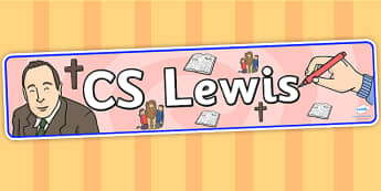 CS Lewis Display Banner - CS Lewis, display, banner, display banner, display header, themed banner, classroom banner, banner display, header, display