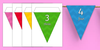 Minus 100 to 100 Multicoloured Display Bunting - Multicoloured 0-100 on Bunting - bunting, display, numbers, 1, 100, numbes, nubers, bounting