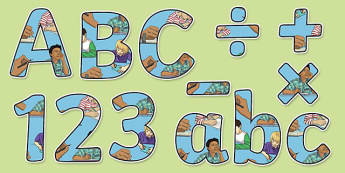 Writing Themed Display Letters and Numbers Pack - writing, display lettering, English lettering, English display, English display lettering