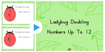 Ladybug Doubling Numbers Up to 12 PowerPoint - ladybug, double