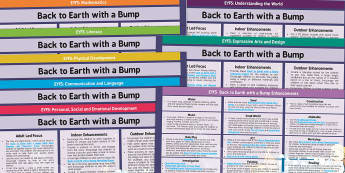 EYFS Back to Earth with a Bump Lesson Plan and Enhancement Ideas - Twinkl originals, fiction, EYFS, Early Years Planning, Topic Plan, Continuous Provision, Back To Ear