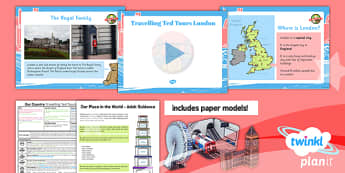 Geography: Our Country Unit: Travelling Ted Tours London Year 1 Lesson Pack 5