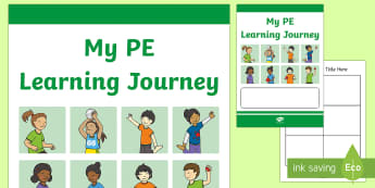 Year 2 My PE Learning Journey Booklet - pe, p.e, physical education, booklet, assessment, learning journey, learning booklet, front cover