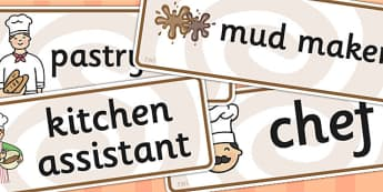 Mud Pie Kitchen Role Play Labels - mud pie, kitchen, role play