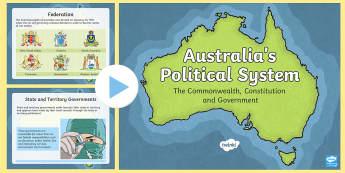 Australia's Political System PowerPoint - separation of powers australia