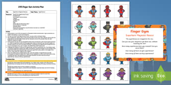 EYFS Superheroes Magnetic Rescue Finger Gym Plan and Resource Pack - Superheroes, superhero, magnet, batman, spiderman, superman, funky fingers,