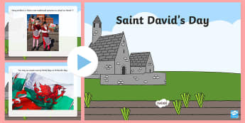 St David's Day Photographs and Information PowerPoint - St David's Day, Saint David, Dewi Sant, banner, flag, traditional dancing, costume, daffodil, leek,