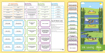 The Ugly Duckling with Blanks Level Question Cards - language for thinking, inference, prediction, asking, answering