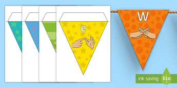 Welcome to Year Six Fingerspelling Display Bunting - year 6, year six, welcome to year six bunting, welcome to year 6 bunting,Welcome To Class, Classroom