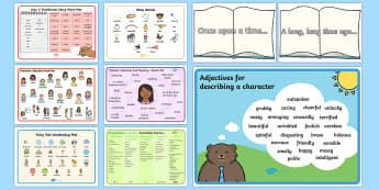 story words ks1 - - story, words, ks1, prompt cards, conjunctions, connectives, time words,