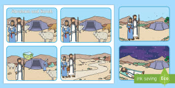 Abraham and Sarah Bible Story Sequencing Cards - KS1, Year 1, Year 2, EYFS, Reception, Abraham, Sarah, Bible, RE, Religion, Religious Education, Bibl