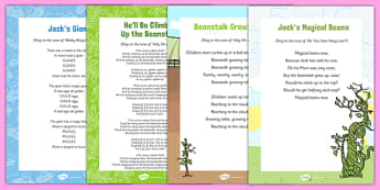 Jack and the Beanstalk Songs and Rhymes Resource Pack - nursery rhymes, jack and the beanstalk, songs and rhyme, resource pack